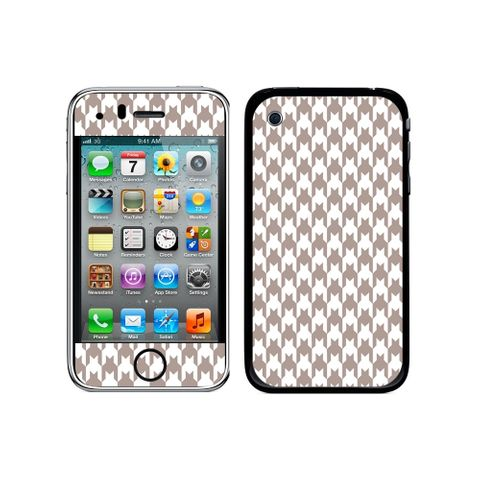 Preppy Houndstooth White Gray iPhone 3G/3GS Skin