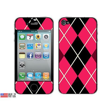 Argyle Hipster Pink iPhone 4 Skin