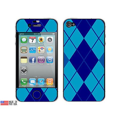 Argyle Hipster Blue iPhone 4 Skin