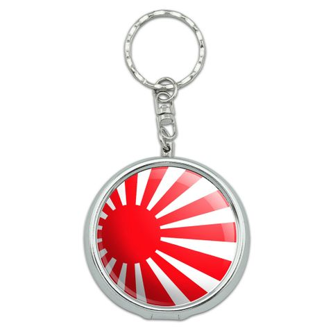 Japan Japanese Flag Rising Sun Portable Ashtray Keychain