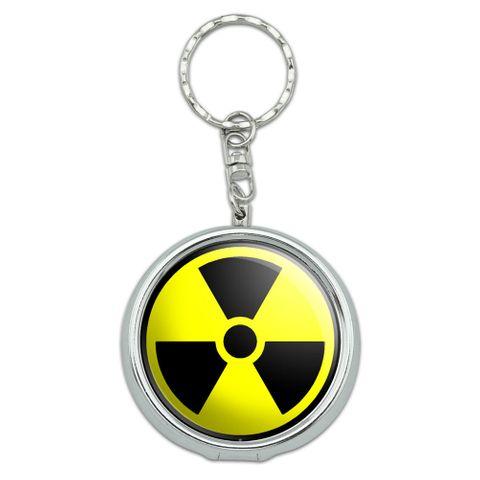 Radioactive Nuclear Warning Symbol Portable Ashtray Keychain