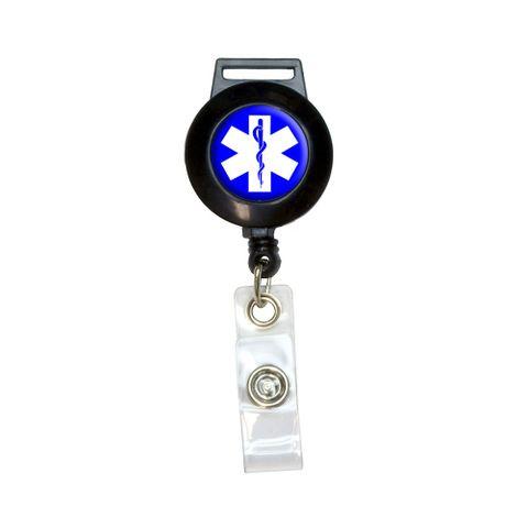 Star of Life - Medical Health EMT RN MD Retractable Badge Card ID Holder