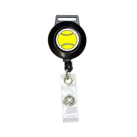 Tennis Ball Retractable Badge Card ID Holder