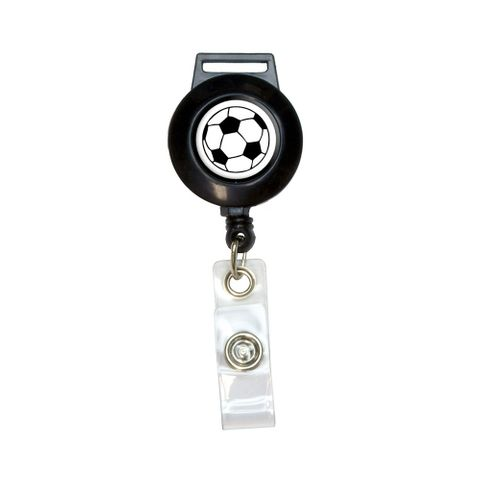 Soccer Ball Retractable Badge Card ID Holder