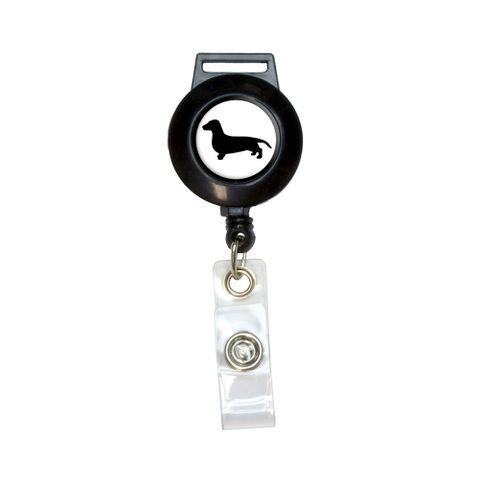Dachshund - Weiner Dog Retractable Badge Card ID Holder