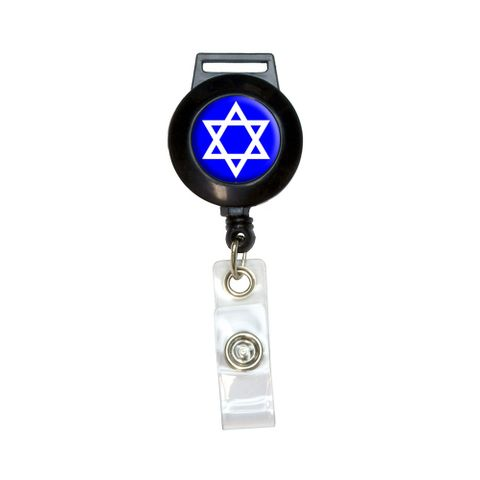 Star of David - Shield Jewish Retractable Badge Card ID Holder