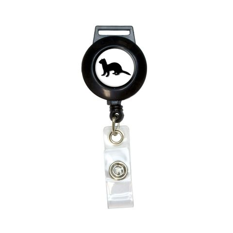 Ferret - Weasel Retractable Badge Card ID Holder
