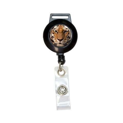 Bengal Tiger Face Retractable Badge Card ID Holder