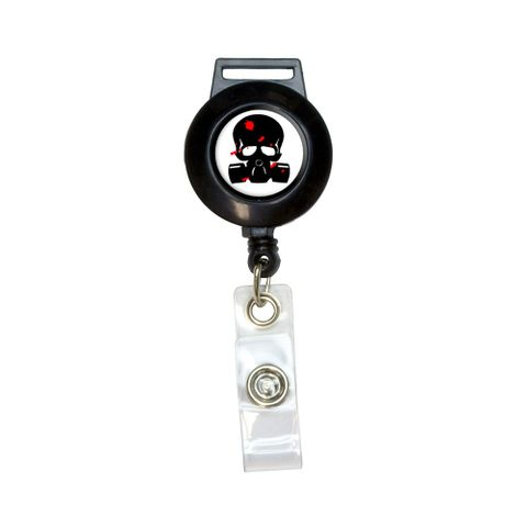 Zombie Outbreak Response Team - Blood - Skull Gas Mask Retractable Badge Card ID Holder