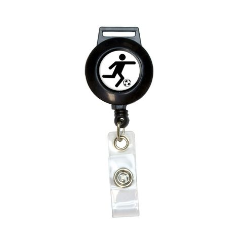 Soccer Symbol Retractable Badge Card ID Holder
