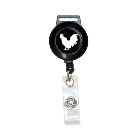 Rooster - Cock Retractable Badge Card ID Holder