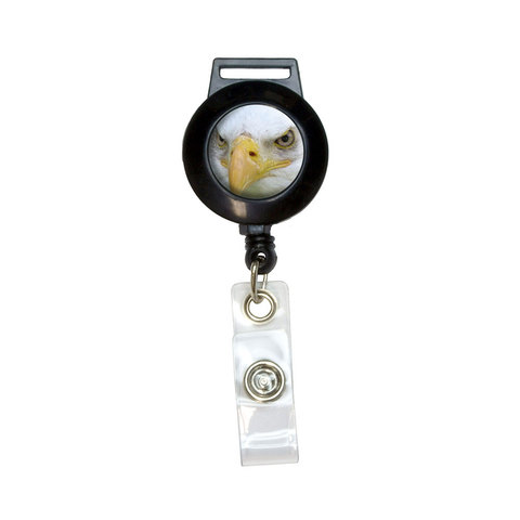 Bald Eagle Staring - Raptor Bird of Prey Retractable Badge Card ID Holder