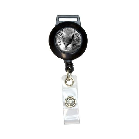 Domestic Shorthair Tabby Cat Retractable Badge Card ID Holder