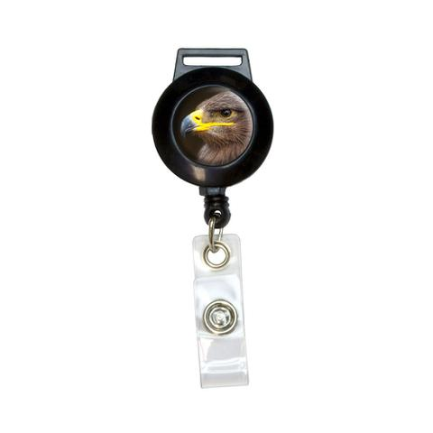 Golden Eagle Retractable Badge Card ID Holder
