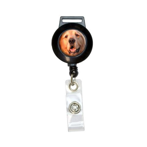 Golden Retriever Dog Retractable Badge Card ID Holder
