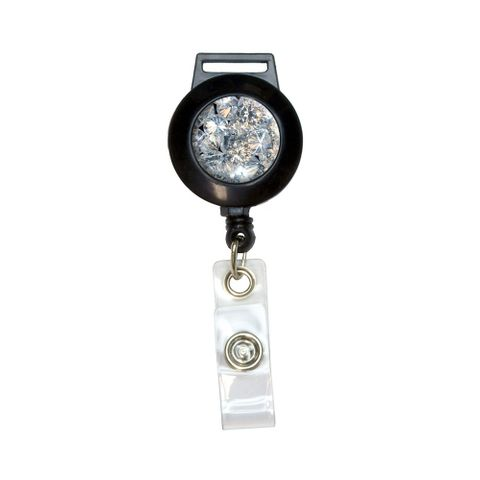 Loose Diamonds Picture Retractable Badge Card ID Holder