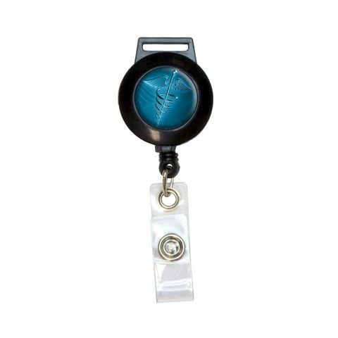 Medical Caduceus Symbol - EMT RN MD Retractable Badge Card ID Holder