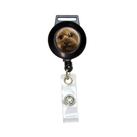 Yorkshire Terrier Yorkie Dog Retractable Badge Card ID Holder