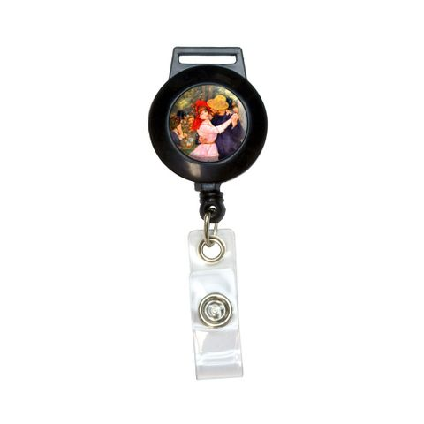 Dance in Bougival by Renoir Retractable Badge Card ID Holder
