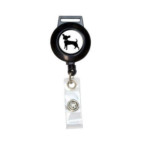 Chihuahua Retractable Badge Card ID Holder