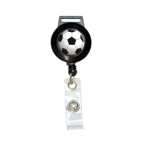 Soccer Ball Sporting Goods Sportsball Retractable Badge Card ID Holder