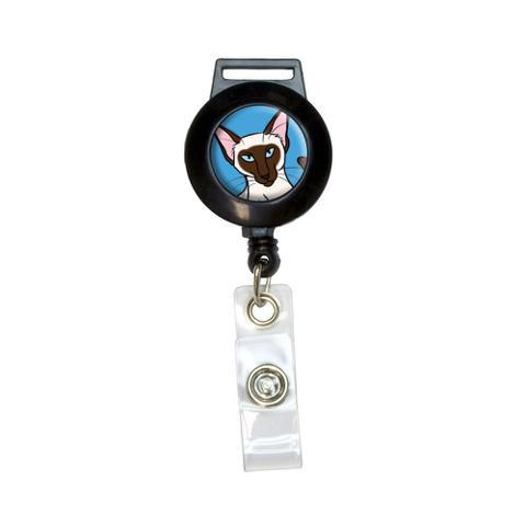 Siamese Cat - Pet Retractable Badge Card ID Holder