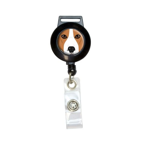 Beagle Face - Dog Pet Retractable Badge Card ID Holder