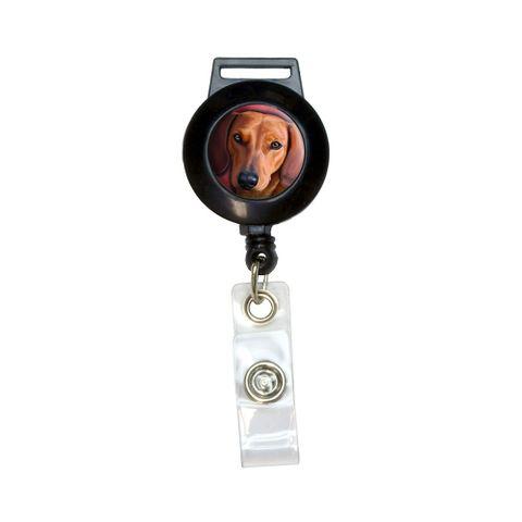 Dachshund - Weiner Dog Pet Retractable Badge Card ID Holder