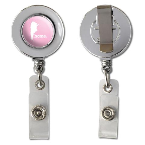 Argentina Home Country Chrome Badge ID Card Holder - Solid Light Pink