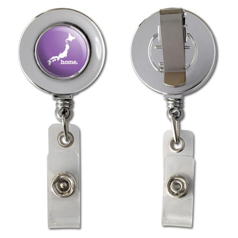 Japan Home Country Chrome Badge ID Card Holder - Solid Lavender Purple
