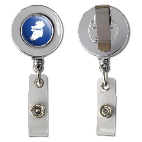 Ireland Home Country Chrome Badge ID Card Holder - Solid Navy Blue