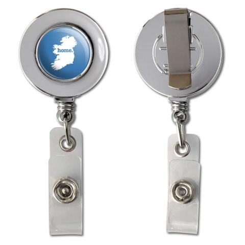 Ireland Home Country Chrome Badge ID Card Holder - Solid Denim Blue