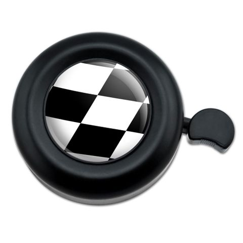 Checkered Flag Racing Bicycle Handlebar Bike Bell
