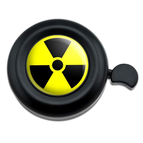 Radioactive Nuclear Warning Symbol Bicycle Handlebar Bike Bell