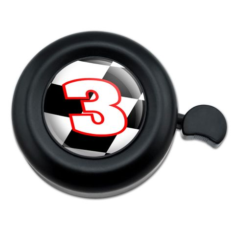 Number 3 Checkered Flag Racing Bicycle Handlebar Bike Bell