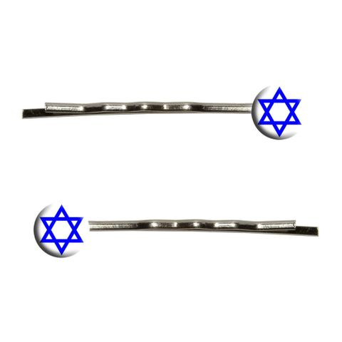 Star of David Bobby Pin Hair Clips