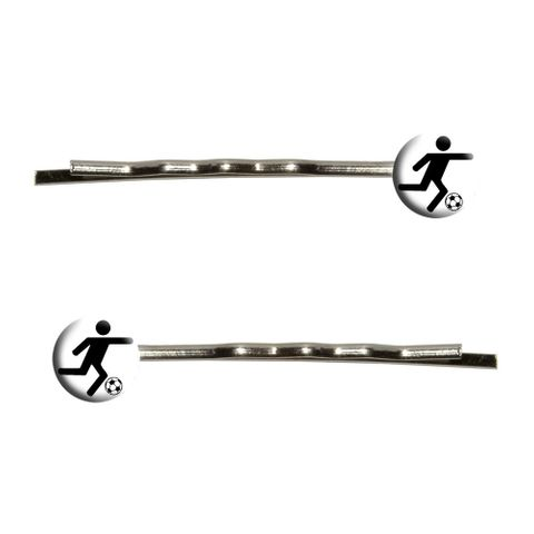 Soccer Symbol Bobby Pin Hair Clips