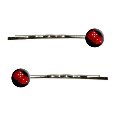 Dice - Craps - Gambling Bobby Pin Hair Clips