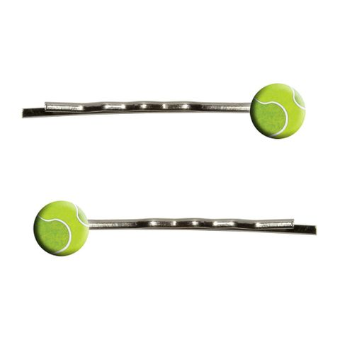 Tennis Ball Sporting Goods Sportsball Bobby Pin Hair Clips