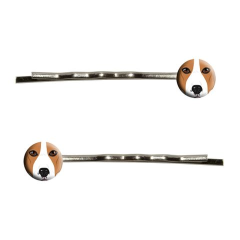 Beagle Face - Dog Pet Bobby Pin Hair Clips