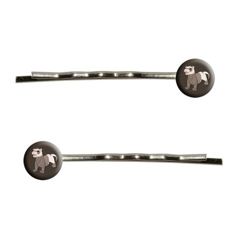Ferret - Pet Brown Bobby Pin Hair Clips