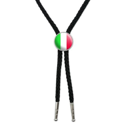 Italy Italian Flag Southwestern Bolo Tie