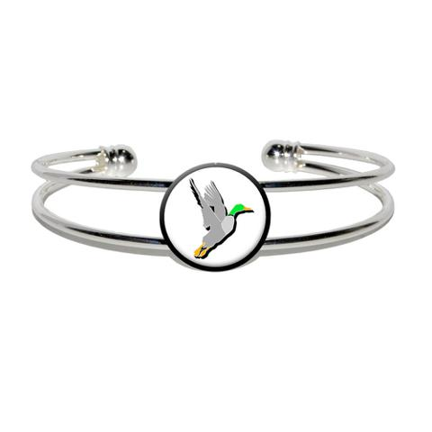 Duck Hunting - Hunter Silver Plated Metal Cuff Bracelet