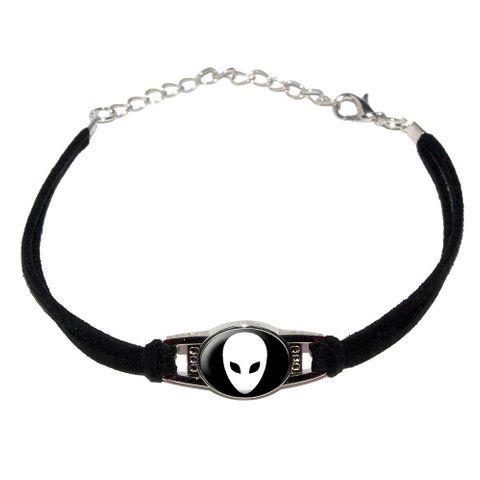Alien Novelty Suede Leather Metal Bracelet