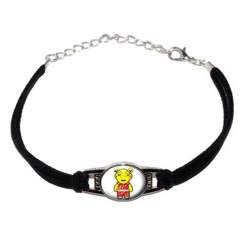 Alien Cartoon Novelty Suede Leather Metal Bracelet