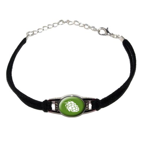 Hops - Bud Novelty Suede Leather Metal Bracelet