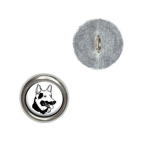 German Shepherd - Dog Buttons - Set of 4