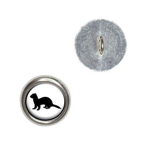 Ferret - Weasel Buttons - Set of 4