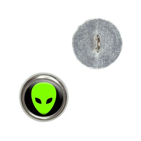 Alien Head - Roswell Buttons - Set of 4