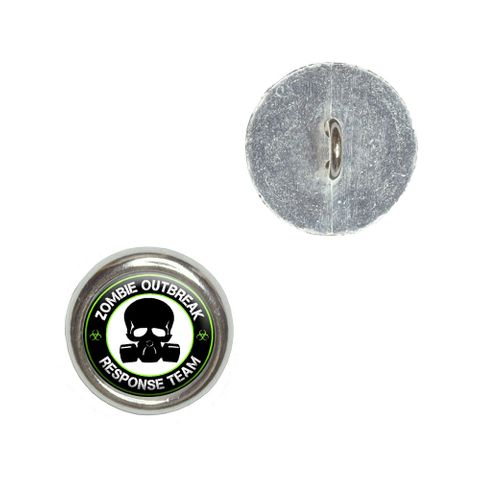 Zombie Outbreak Response Team Gas Mask - Green Buttons - Set of 4